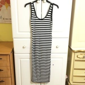 Forever 21 black and white striped dress